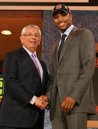 """With the 12th pick in the 2009 NBA DRAFT..."" ©Bobcats.com"